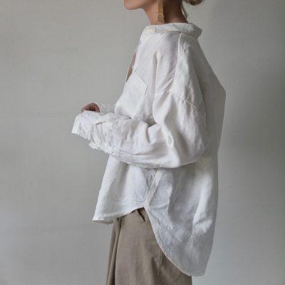 vit oversized linneskjorta