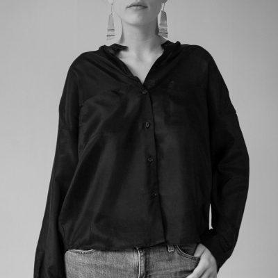 CLARA cotton/silk blouse. Snygg skjorta i bomull/siden.