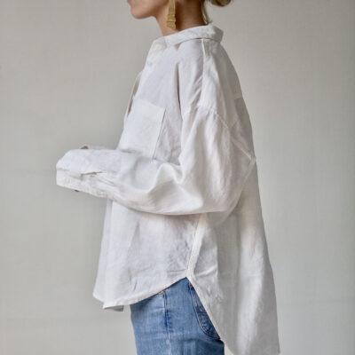vita linneskjortan dam