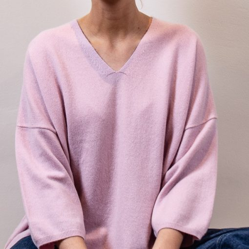 Ebba cashmere sweater col: light pink