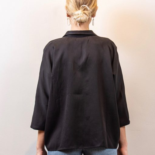 Anna cotton/silk black back