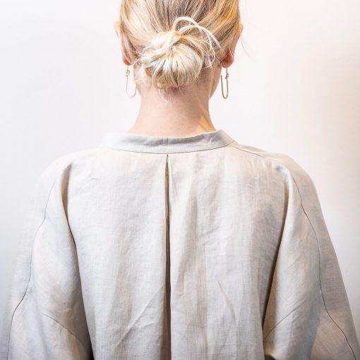 LISA linen blouse sand back