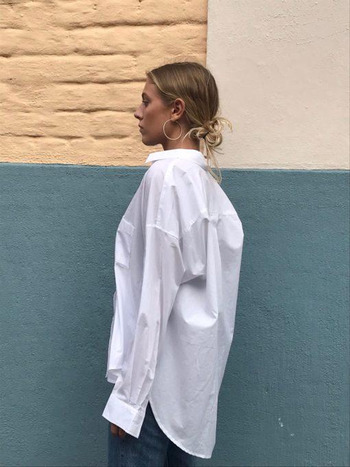 den vita skjortan i bomull
