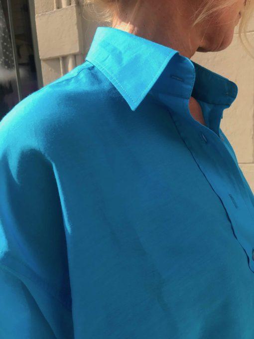 modern sidenskjorta