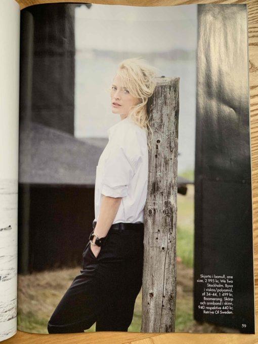 vita skjortan i tidningen femina