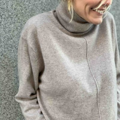 polo neck sweater in cashmere