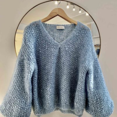 mohair sweater knitted by hand