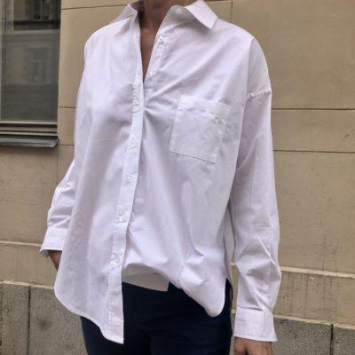 den krispiga vita skjortan