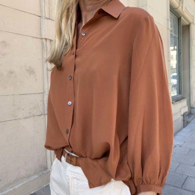 rostbrun sidenblus