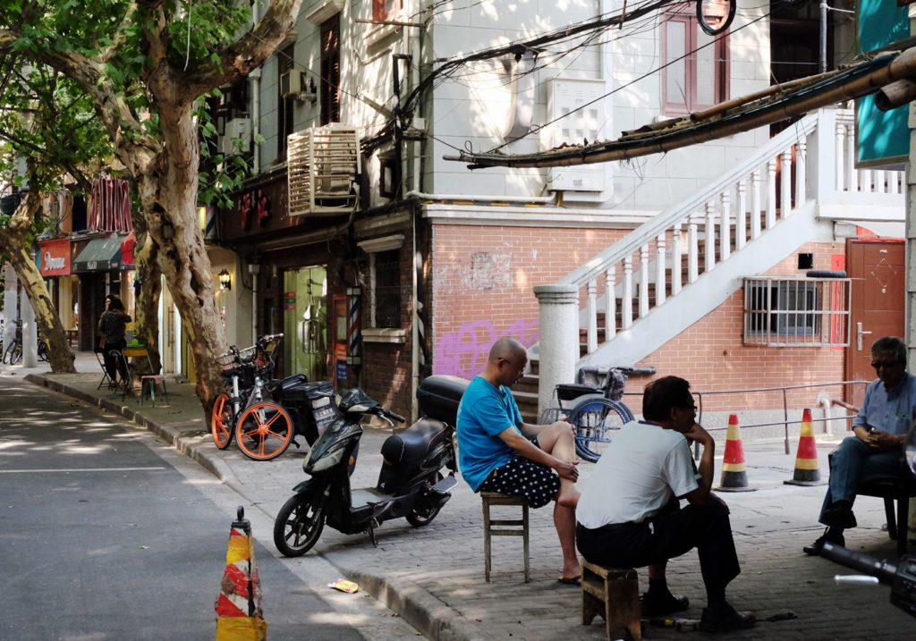 lokalbefolkningen i Shanghai