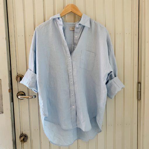 linneskjorta i ljusblått dam