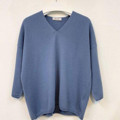 mellanblå cashmere tröja