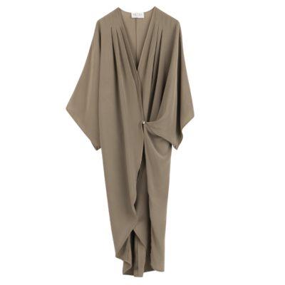 omlottklänning i siden