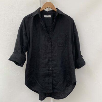 svart linneskjorta dam