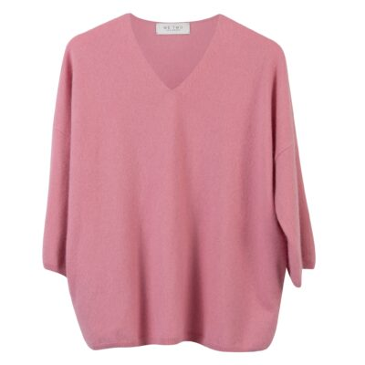 rosa cashmere tröja