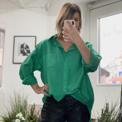 knallgrön skjorta dam