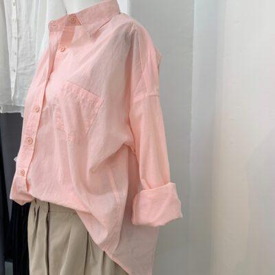 persikorosa bomullskjorta Alma