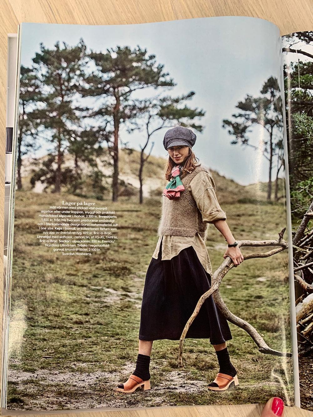 handstickad väst hållbart mode